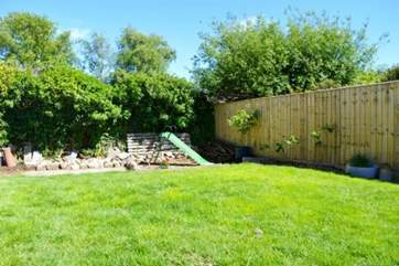 Fully enclosed south-facing garden, perfect for letting the little ones run around.