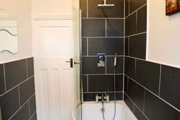 The modern family bathroom.