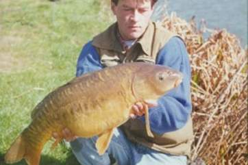 A catch from the lake at Nanteague - 18lb 6oz Carp.