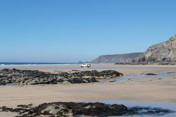 Porthtowan beach has lifeguards from Easter to October.