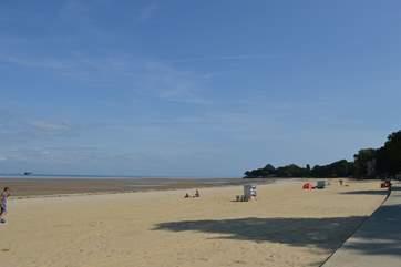 Just a minutes walk away is this stunning, golden sandy beach