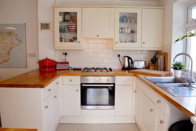 The delightful cottage kitchen ...