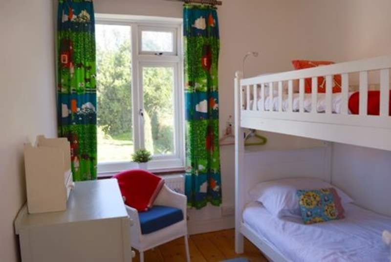 The bunk-bedroom is perfect for children, but with 3ft beds they are suitable for adults too!