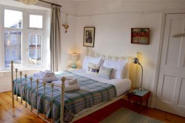 The master bedroom has a lovely king size bed, so spread out, relax and drift off to sleep