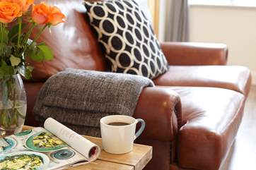 Snuggle up with a cup of tea and a good book.