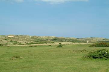 Penhale sand dunes at Perranporth - perfect for dog walking.