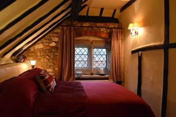 The second bedroom is also full of character, in keep with the rest of the cottage.