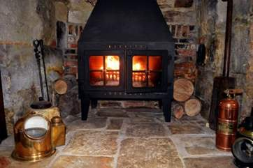 Feel snug as a bug in a rug, as the fire warms up the whole room.