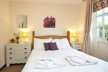 Get a full eight hours sleep in the comfortable double bed