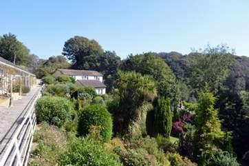 Beautiful settings surround the property.