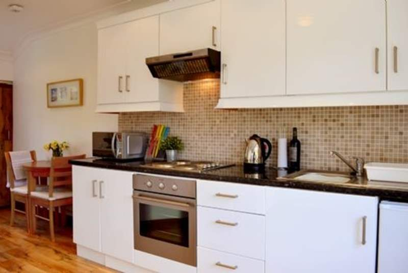 The well-equipped kitchen for preparing your favourite dishes.