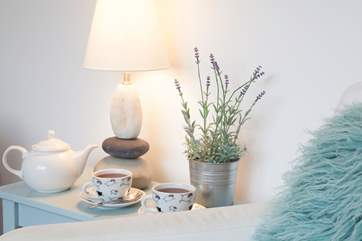 Before you head out for the day, start things with a cup of tea in the quiet surroundings.