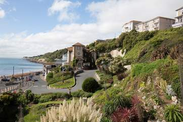 The road down to Ventnor seafront