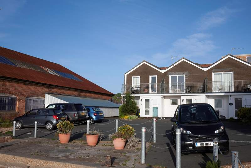 Each cottage has allocated parking