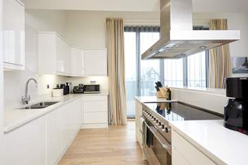 The modern kitchen, very well equipped with everything you should need for cooking your favourite meals