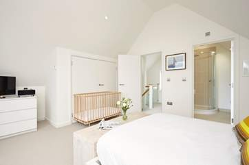 Snuggle up in the spacious, super-king size bed for a lovely 8 hours sleep in the master bedroom