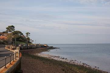 When the tide is in, the seafront is perfect for fishing