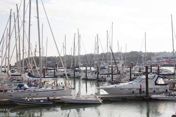 Cowes hosts Cowes Week each year, a well know sailing event