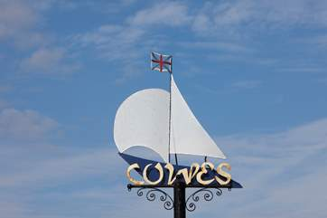 Cowes is a popular sailing town with lovely independant shops and eateries