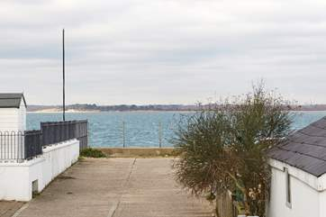 Just yards away from Gurnard seafront