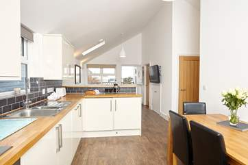 The contemporary kitchen where you will find everything you need