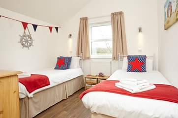 The twin bedroom, with garden view is great for adults or the children in your family