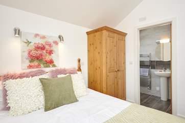 The en suite shower-room off the double bedroom