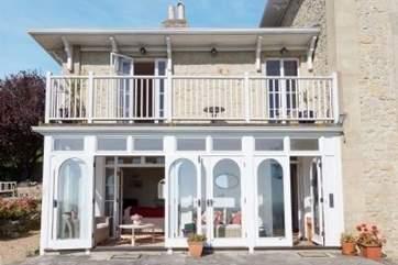 The verandah, stunning