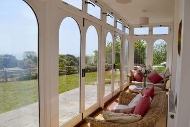 The sun-soaked verandah.