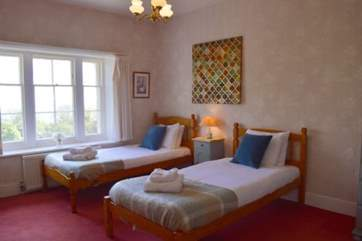 The twin bedroom is suitable for adults or children alike