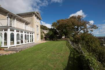 The verandah is stunning, a fantastic place to enjoy the sea views