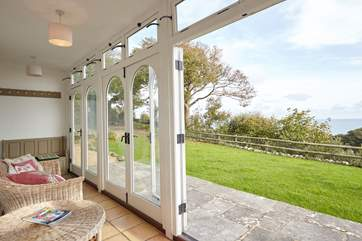 The sun-soaked verandah