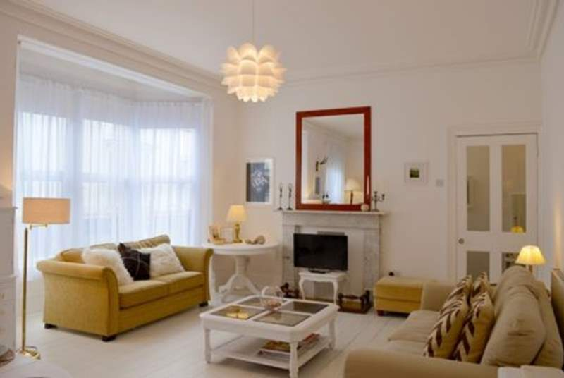 The light and very comfortable sitting-room to relax in
