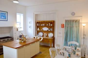 The charming kitchen with central island