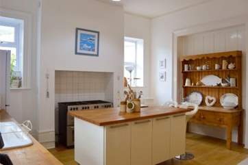 The kitchen has plenty of space and very well equipped