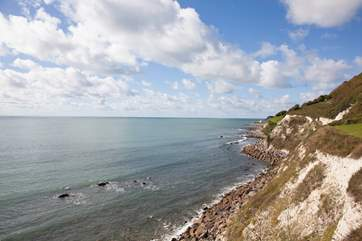 Take a walk along the seafront to Steephill Cove
