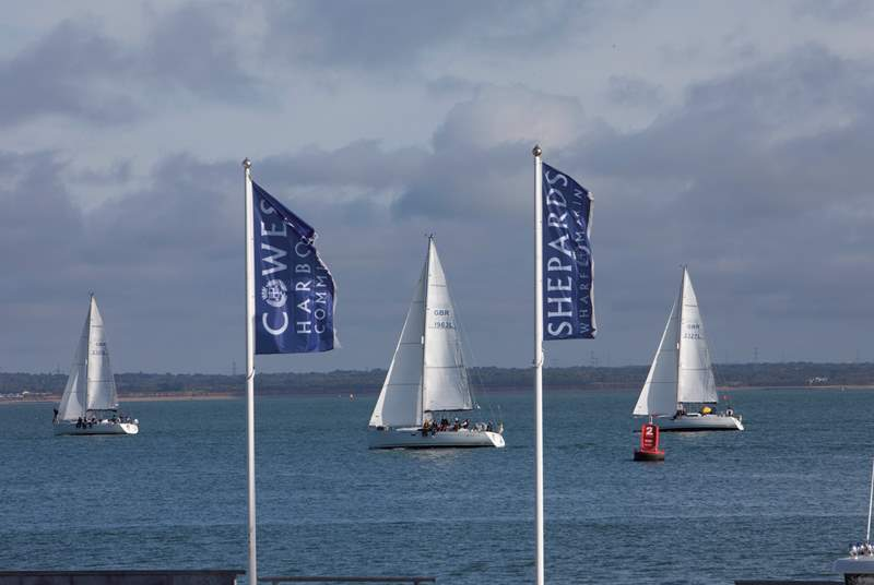 Cowes hosts the famous sailing event, Cowes Week.