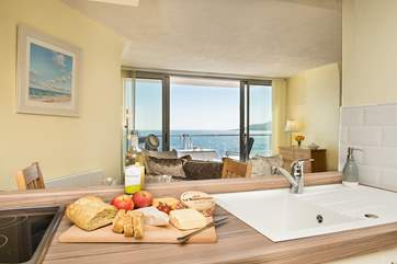 Whilst preparing supper, or even washing up, you can still enjoy the view!