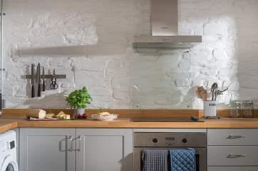 The hand-built kitchen.