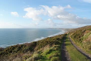 Fabulous coastal footpaths are just a ten minute drive away.