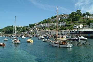 Boats at anchor in nearby Looe, less than four miles away.