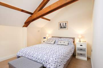 The second bedroom with comfortable double bed