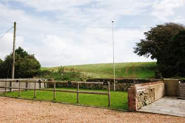 This area of lawn is for sole use of the guests staying at Chillerton Barn