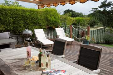 Relax in the sunshine on a sun lounger and feel the warm island sunshine on your skin.