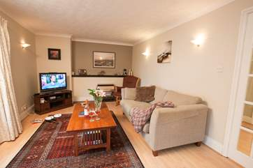 The living-room is ideal for those colder days, snuggle under a blanket on the sofa whilst the children get a little competitive playing Nintendo Wii.