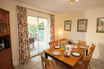 Open up the patio doors and go straight onto the stunning decked area.