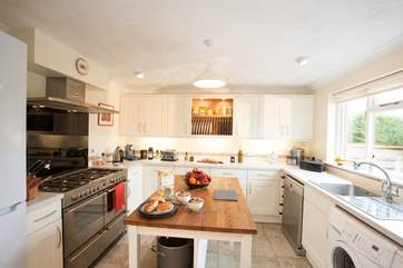 The kitchen is a delight to cook in, with a view overlooking the garden, you can keep an eye on children whilst preparing lunch.