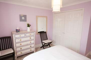 The second double bedroom is light and airy.