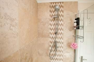 The en suite shower-room off the master bedroom.
