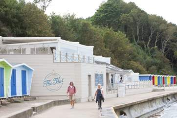 Head down to the seafront and dine in The Hut, with spectacular sea views and tasty food.